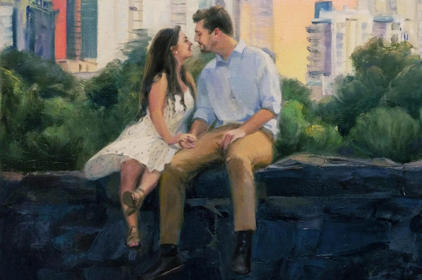 New York's park oil portrait img_2