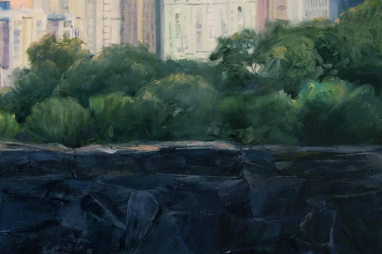 New York's park oil portrait img_3