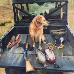 Blakely dog portrait painting img_4