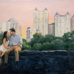 New York's park oil portrait img_7
