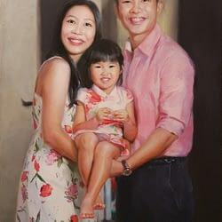 Singapore family oil portrait img_6