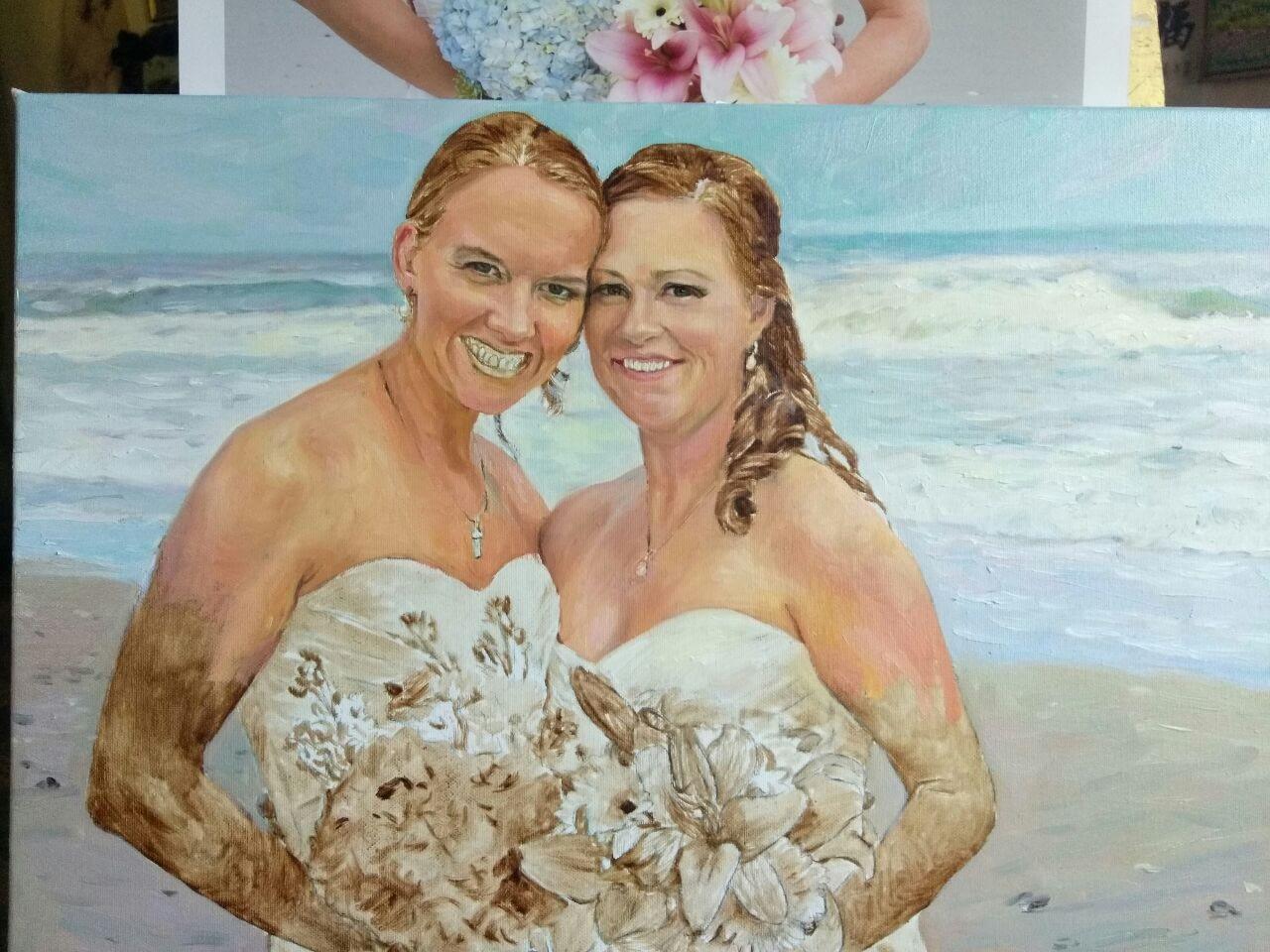 Catherine wedding oil portrait img_14