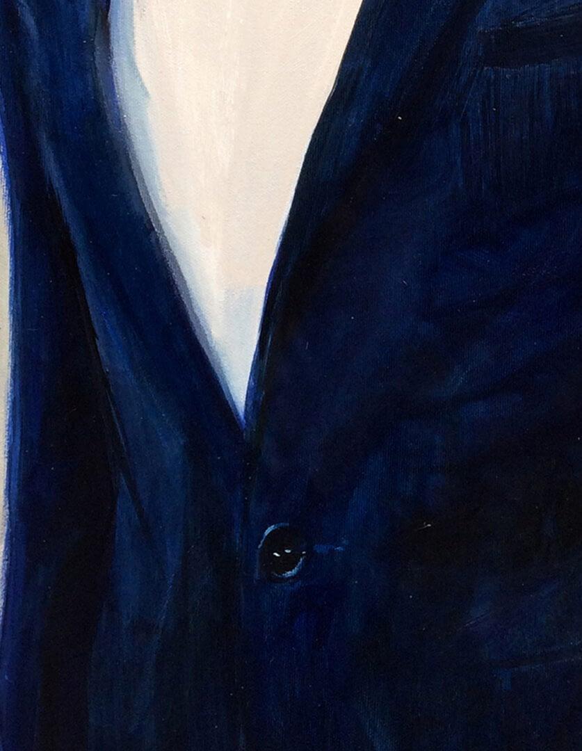 Christine Dick Male portrait painting img_2