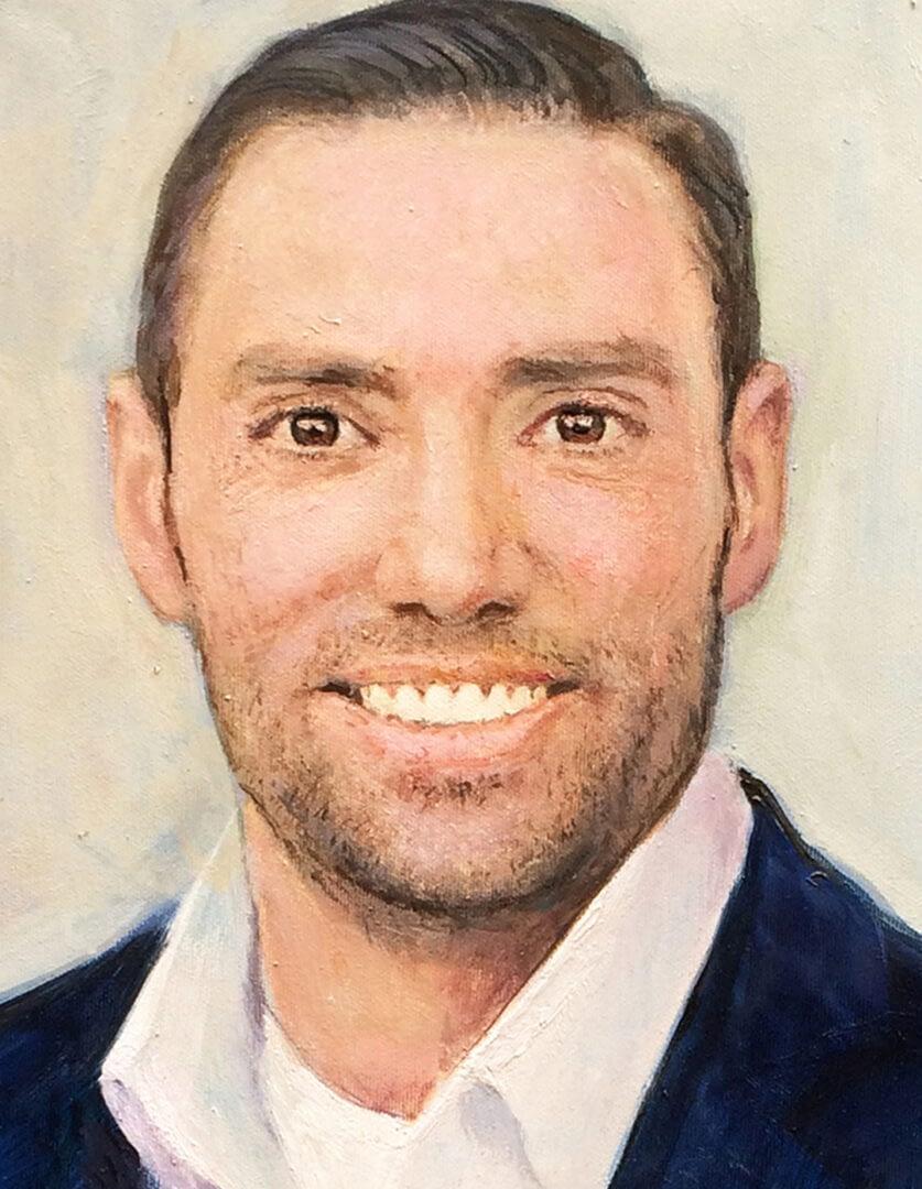Christine Dick Male portrait painting img_5