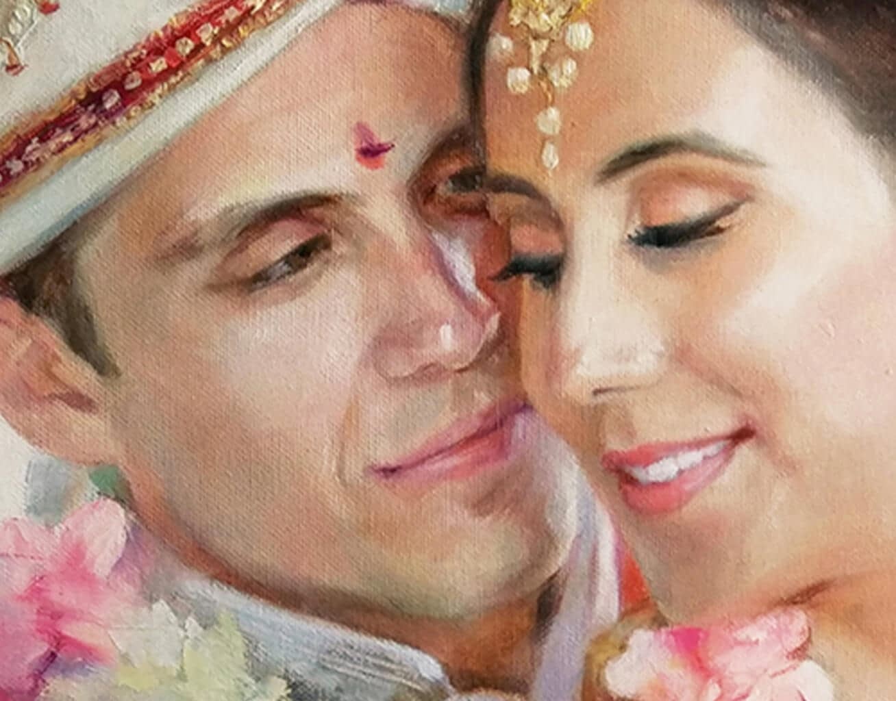 Indian family oil wedding portrait img_4
