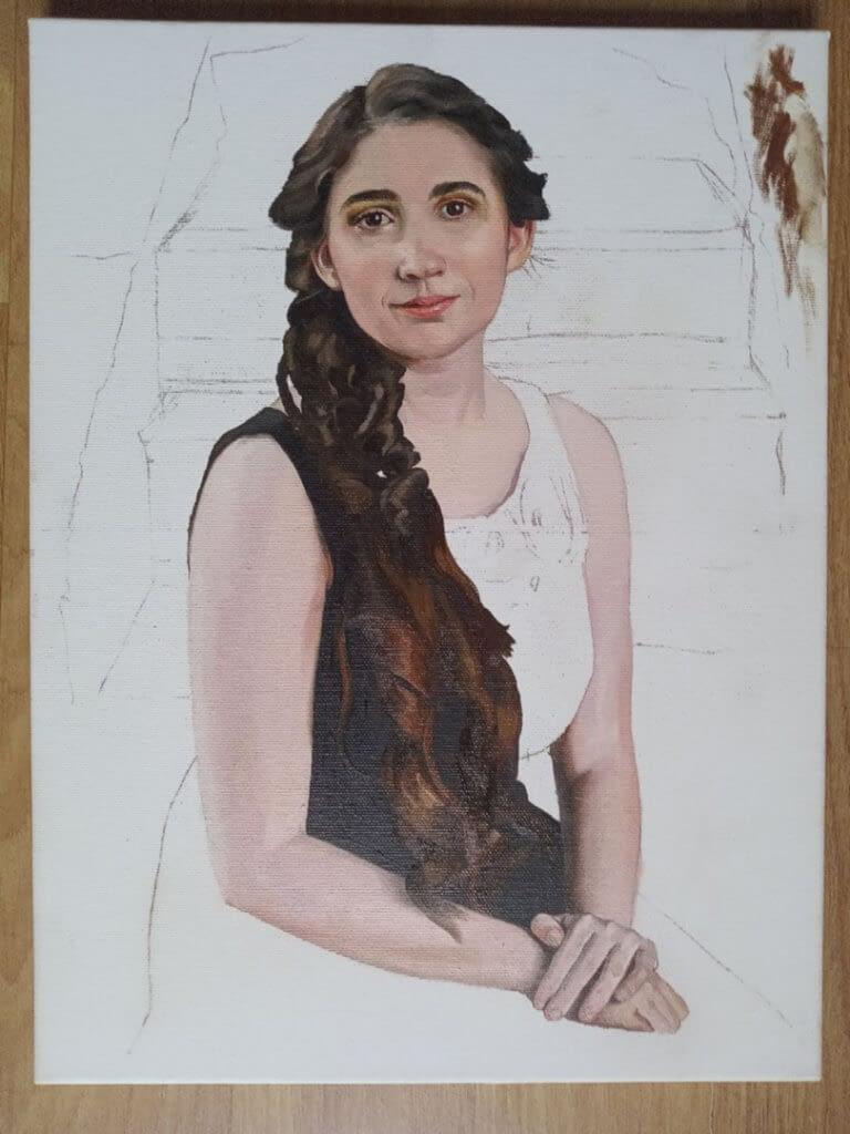 Jennifer S custom portrait from photo img_10