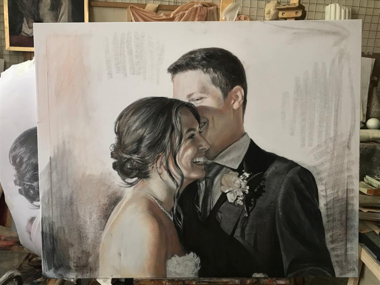 Joseph Schiazza oil wedding portrait img_11