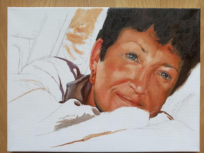 Lauren woman custom oil portrait img_7