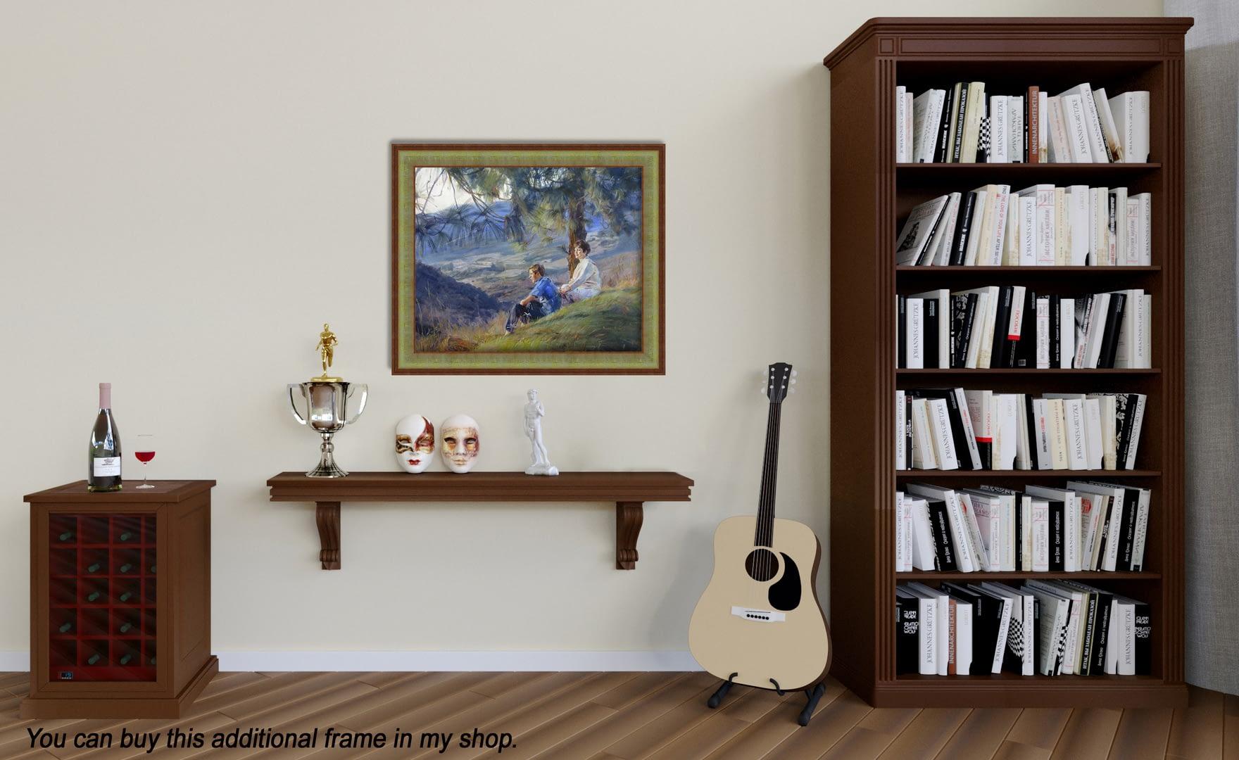 Scenery family oil portrait img_4