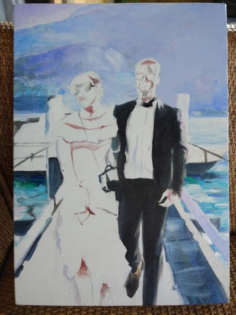 Twins oil wedding portrait img_11