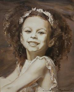 Michelle Smith + kids oil portrait img_4