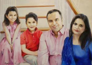custom Big family portrait from photo img_7