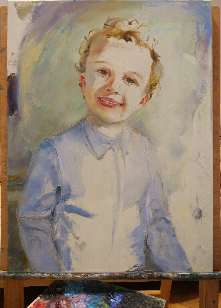 Boy 2 kids portrait custom img_2