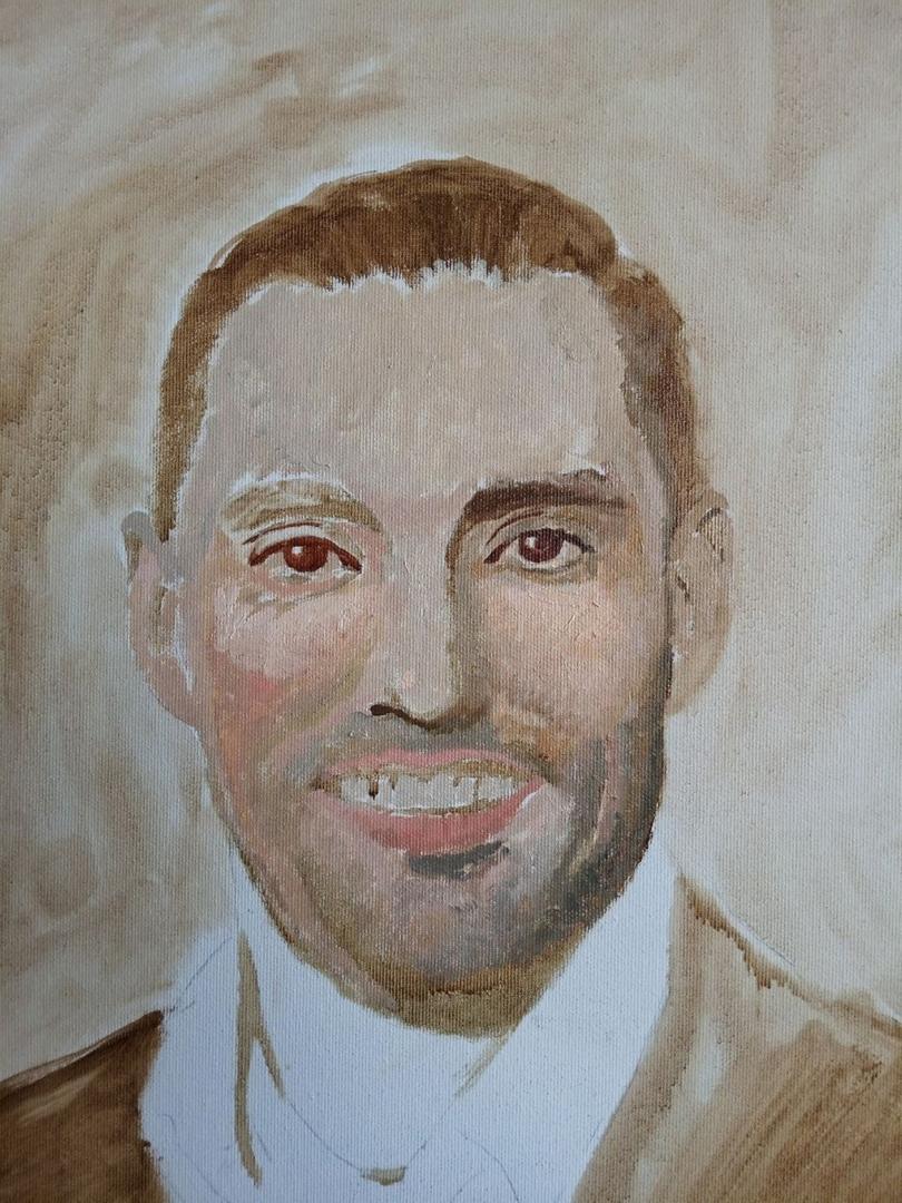 Christine Dick Male portrait painting img_12