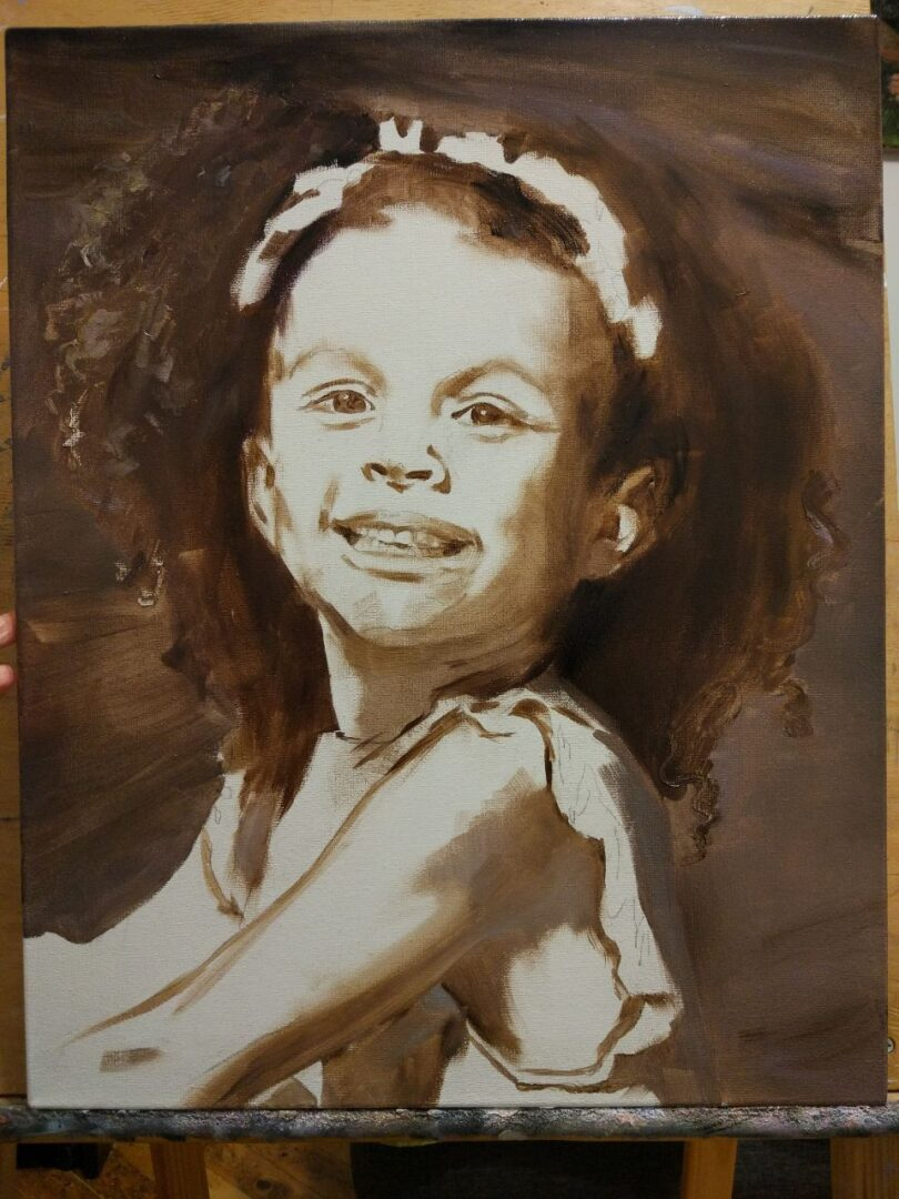 Michelle Smith + kids oil portrait img_5