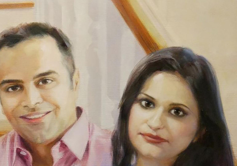 custom Big family portrait from photo img_1