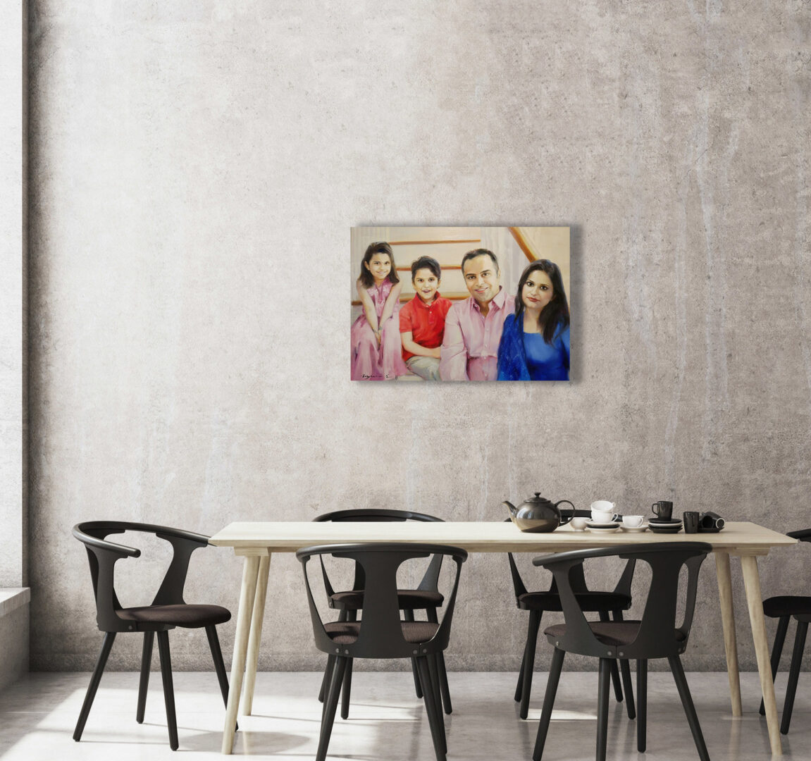 custom Big family portrait from photo img_6