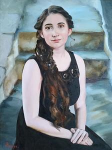 Jennifer S custom portrait from photo img_9