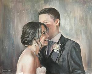 Joseph Schiazza oil wedding portrait img_10
