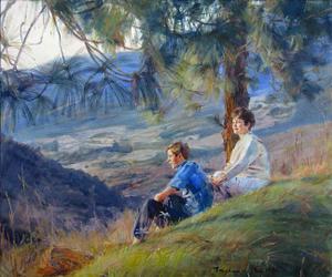 Scenery family oil portrait img_6