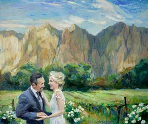 David oil wedding portrait img_8