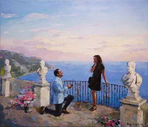 Italian love custom portrait img_1