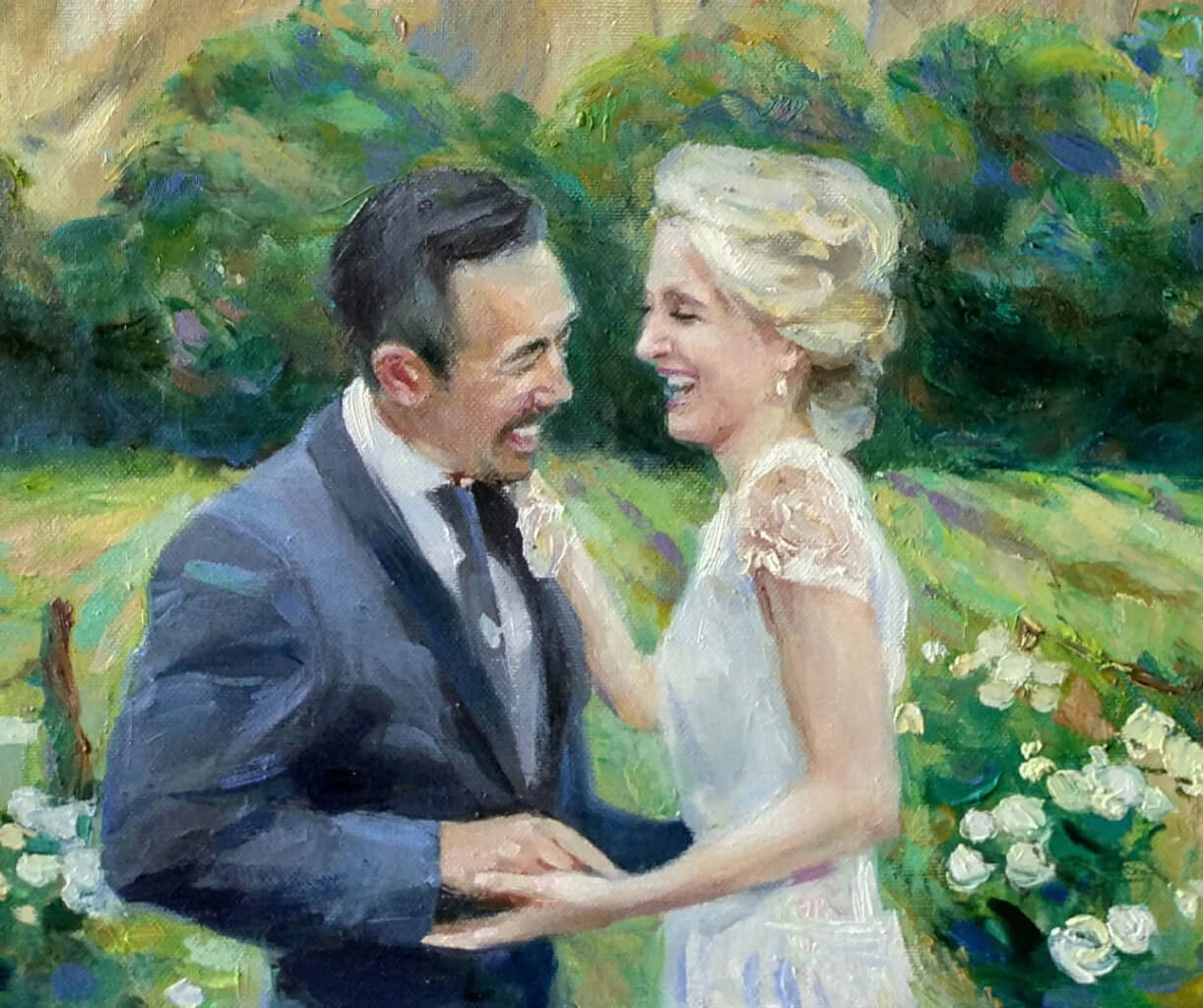 David oil wedding portrait img_2