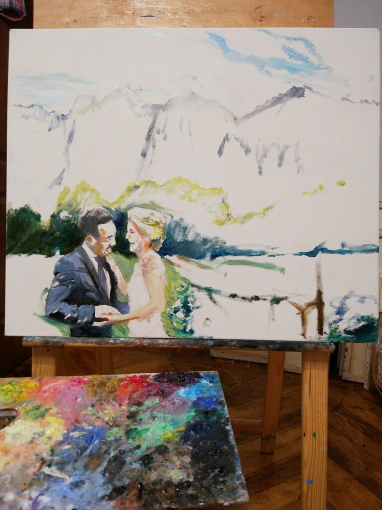 David oil wedding portrait img_6