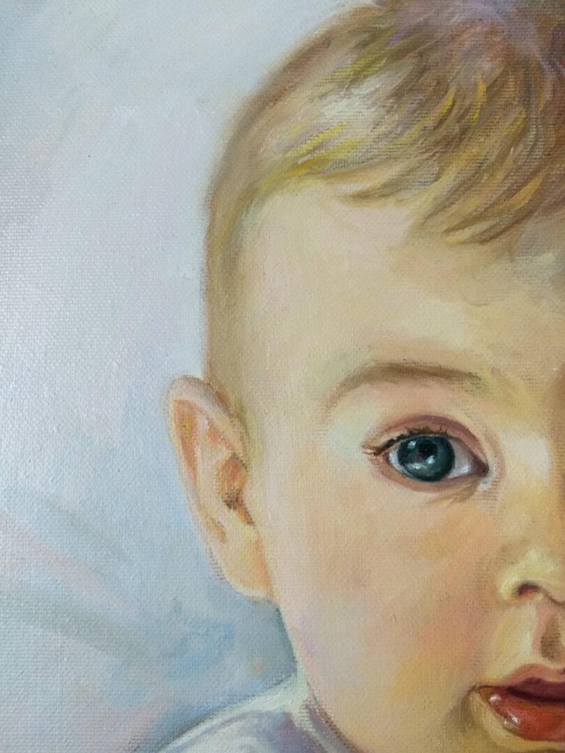 Mary + kids oil portrait img_1