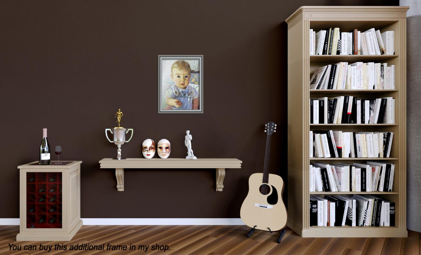 Mary + kids oil portrait img_3