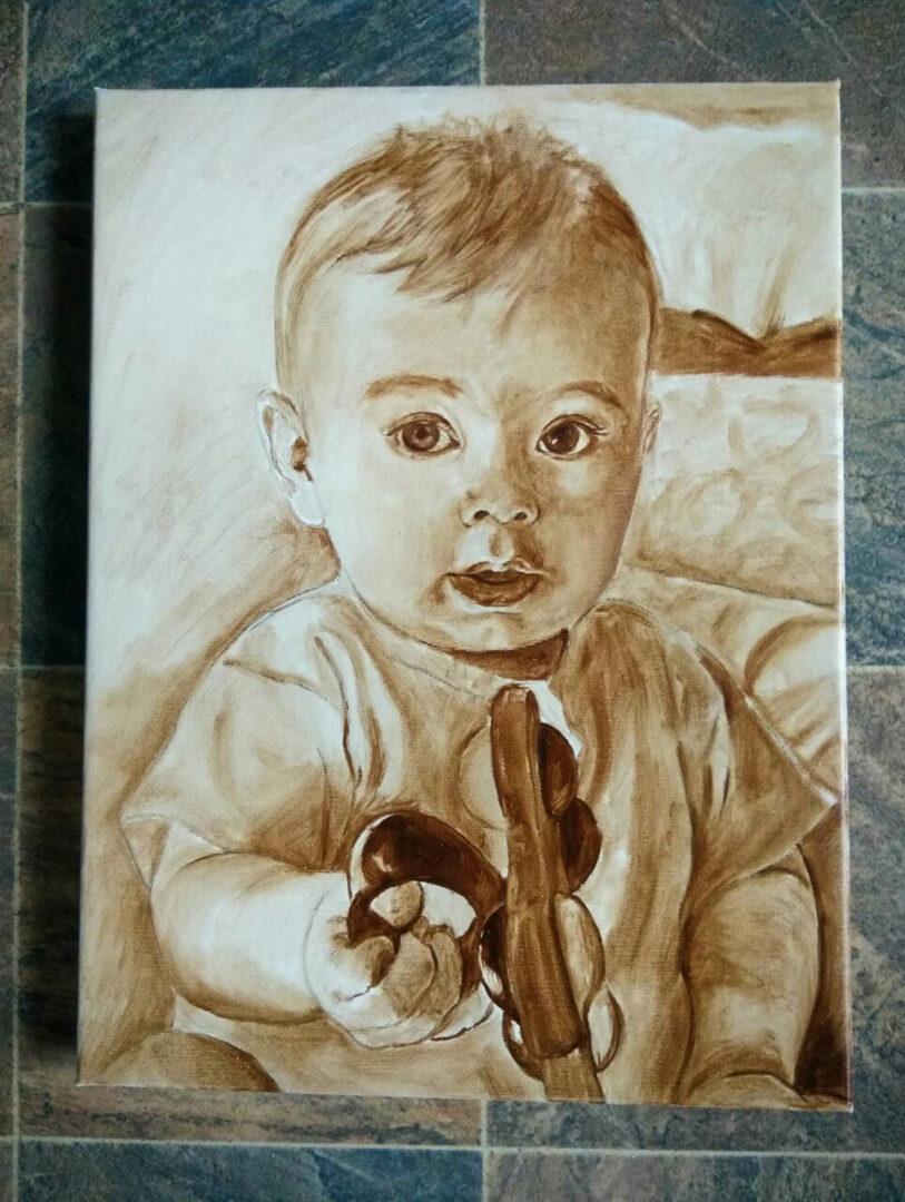 Mary + kids oil portrait img_5