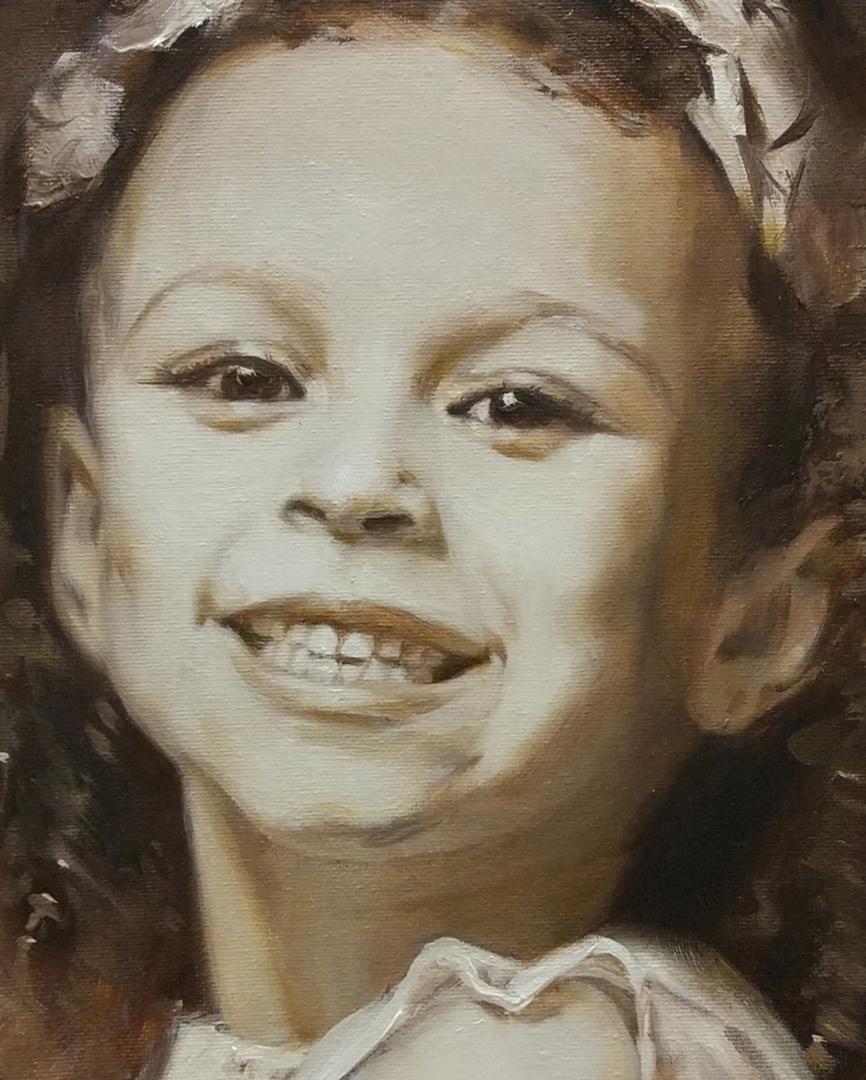 Michelle Smith + kids oil portrait img_2