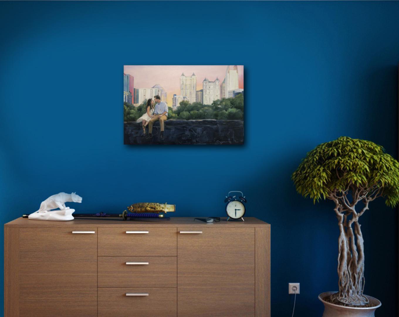 New York's park oil portrait img_1