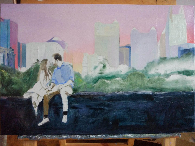 New York's park oil portrait img_6