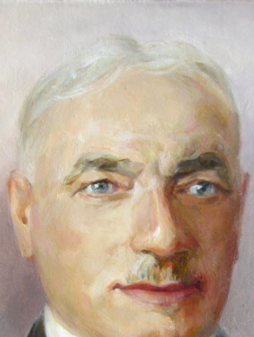 Old man painted portrait img_3