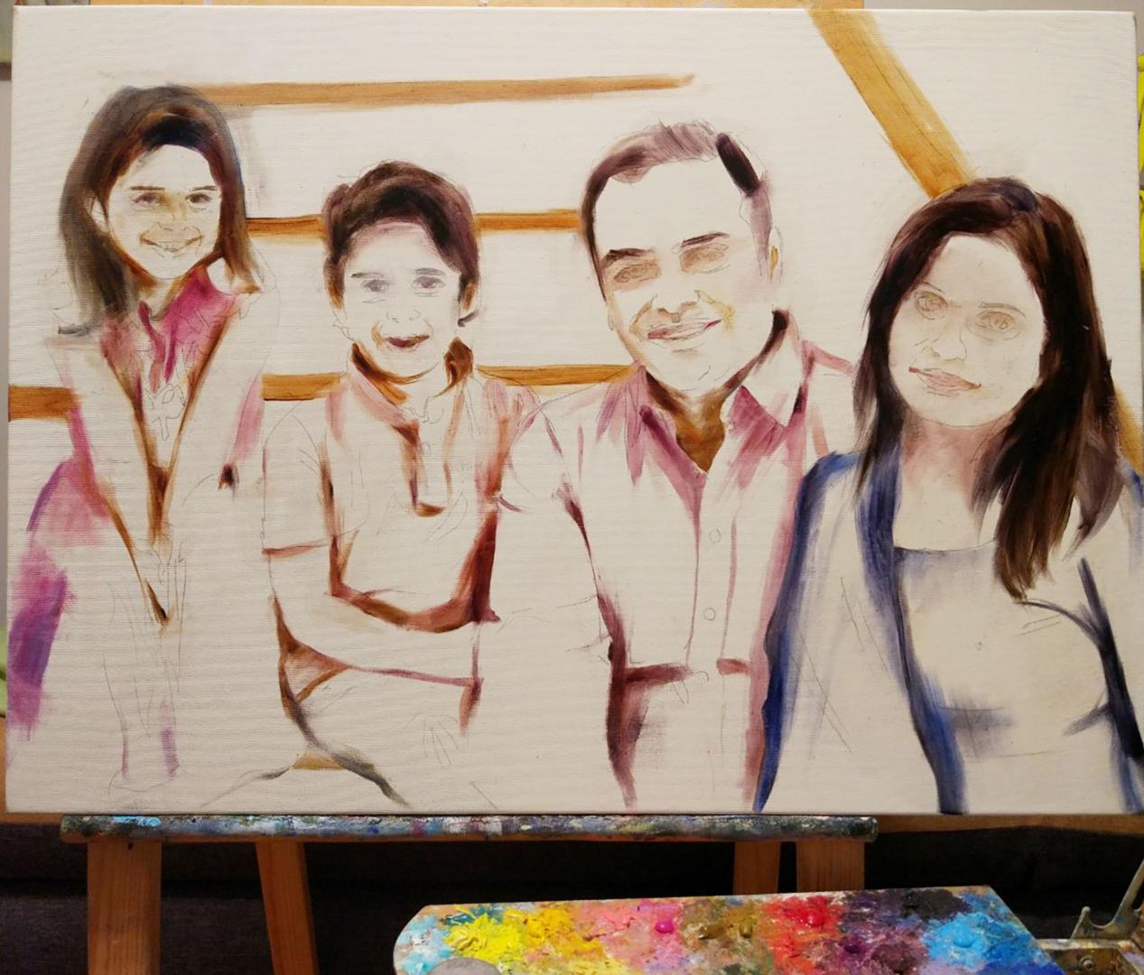 custom Big family portrait from photo img_3